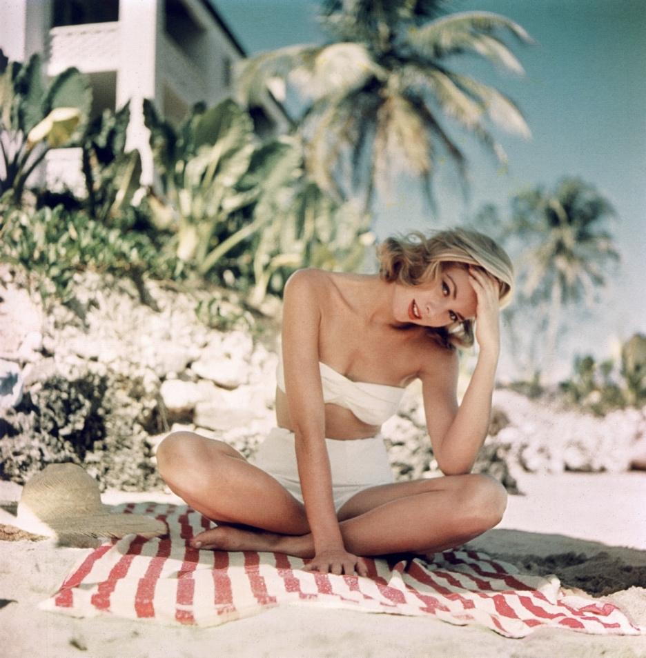 Grace Kelly 1950's Beach