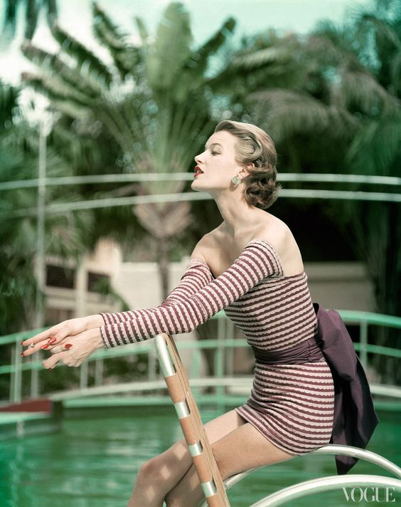 1950's vogue swimsuit spread