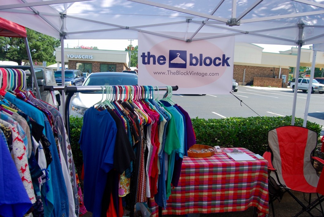 The Block Vintage at the July 2016 Market at Quail Corners in Raleigh, NC