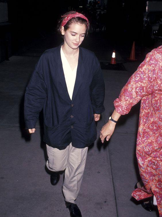 Winona Ryder 1980's Street Style