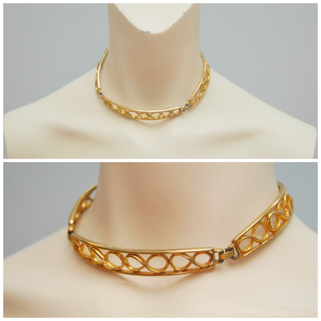 Vintage Gold Plated Choker