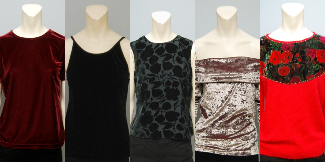 Vintage Velvet Tops from The Block Vintage