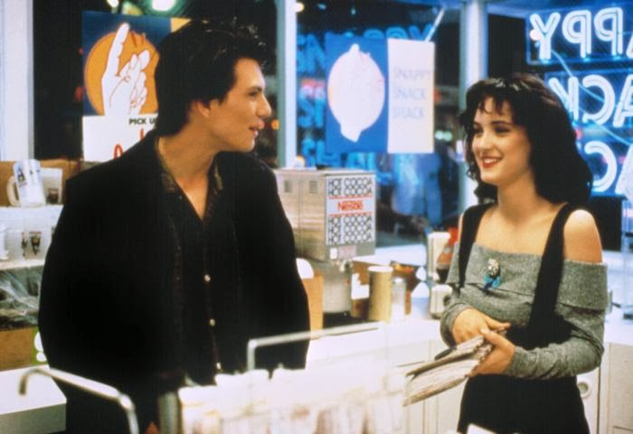 Winona Ryder and Christian Slater in Heathers