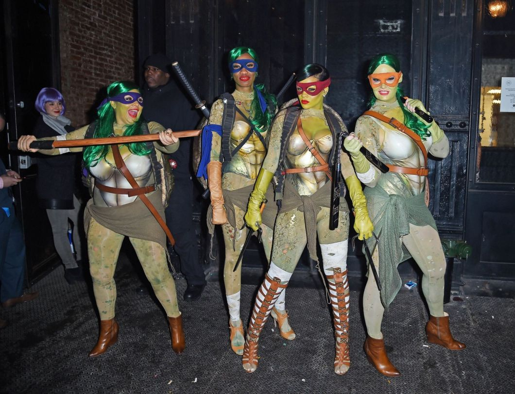 Rihanna as Ninja Turtles