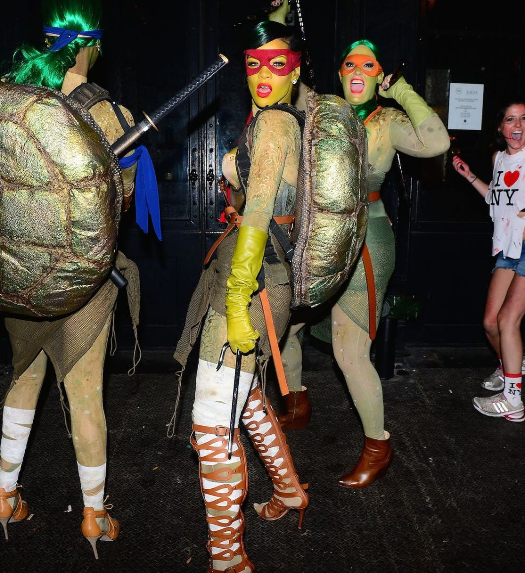 Rihanna as a Ninja Turtle