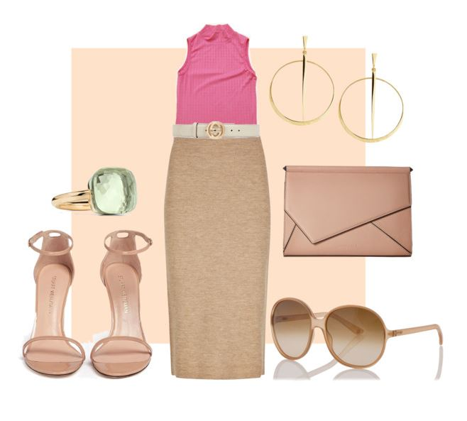 Wear it 4 Ways: 1990's Pink Sleeveless Mock-Turtleneck