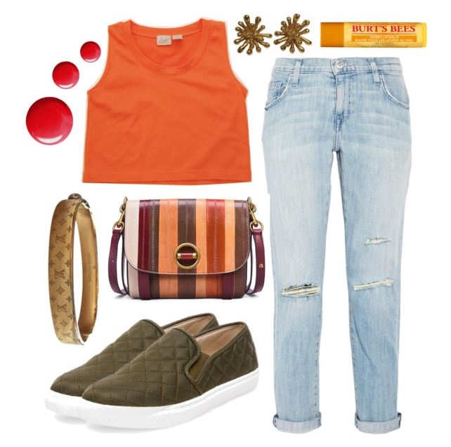 1990's Basic Orange Crop Tank Top Styled Four Ways - Everyday Casual