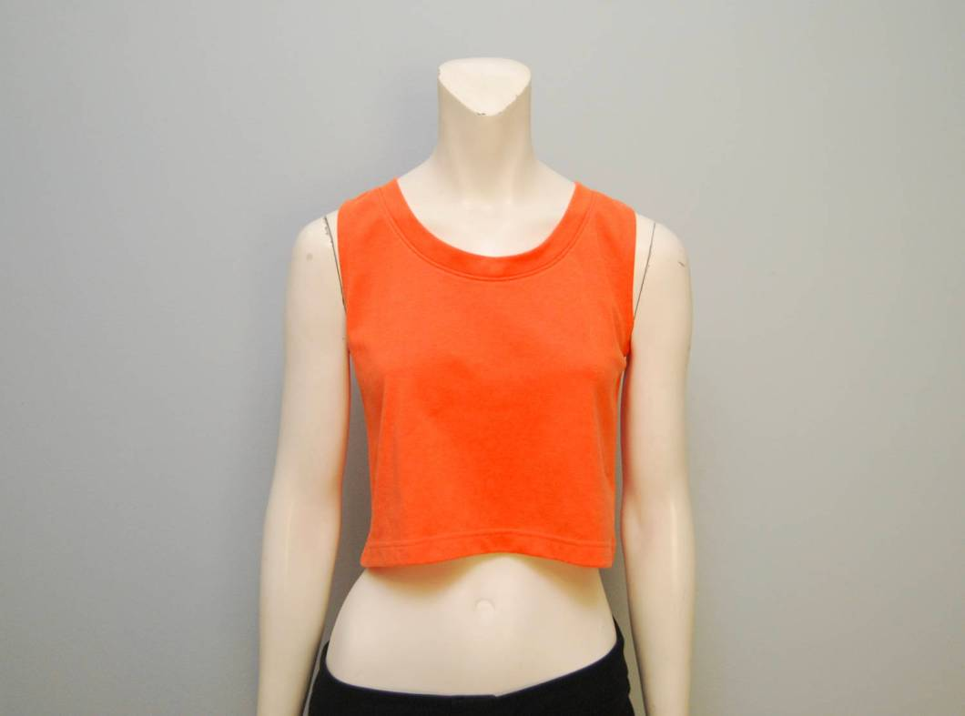 1990's Basic Orange Crop Tank Top from The Block Vintage on Etsy