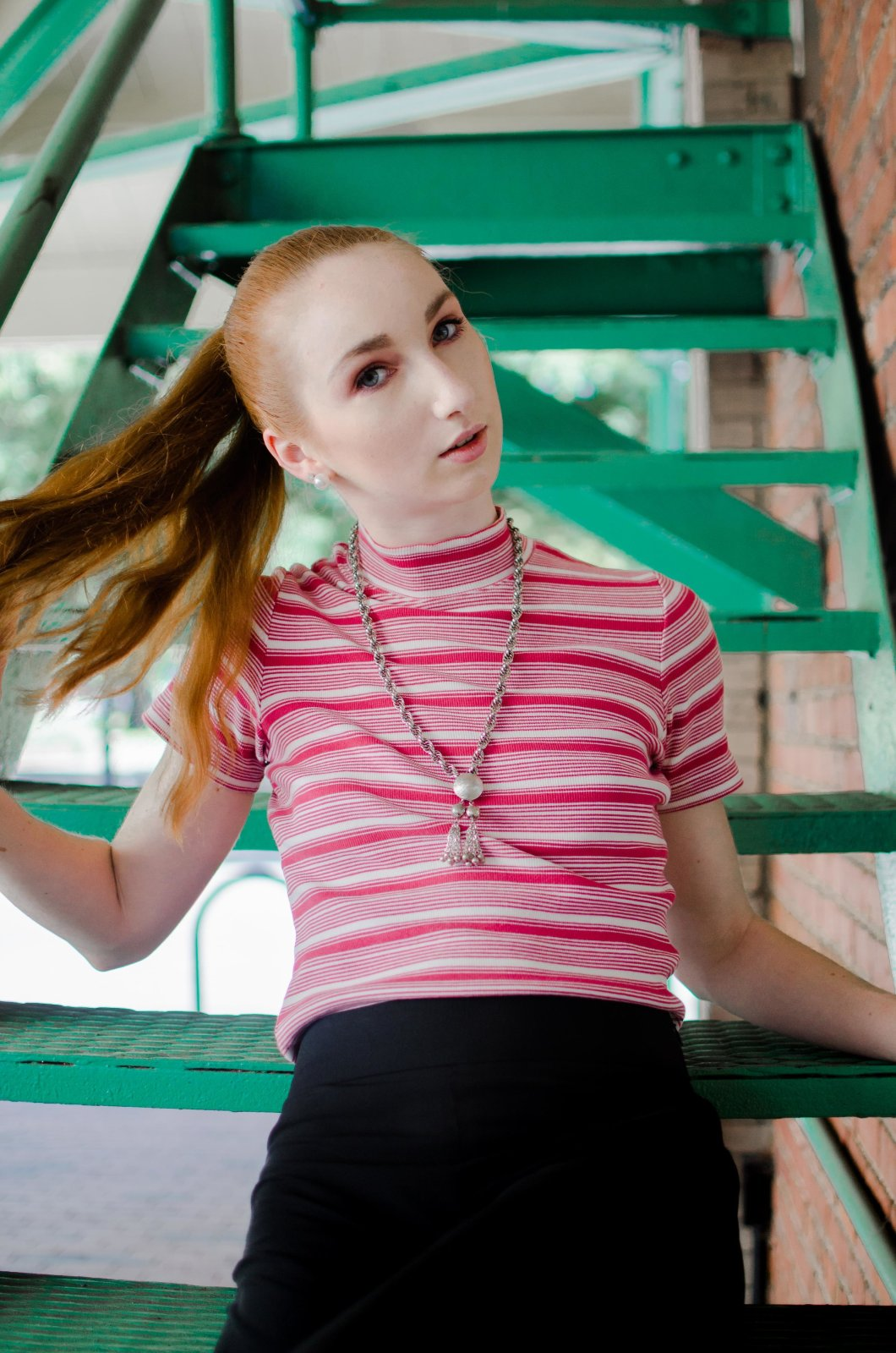 Model Rachael Pope Shot by Photographer Emily Lyons-Wood for The Block Vintage