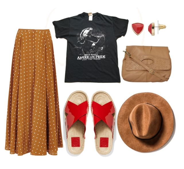 Vintage T-Shirt Styled with maxi skirt