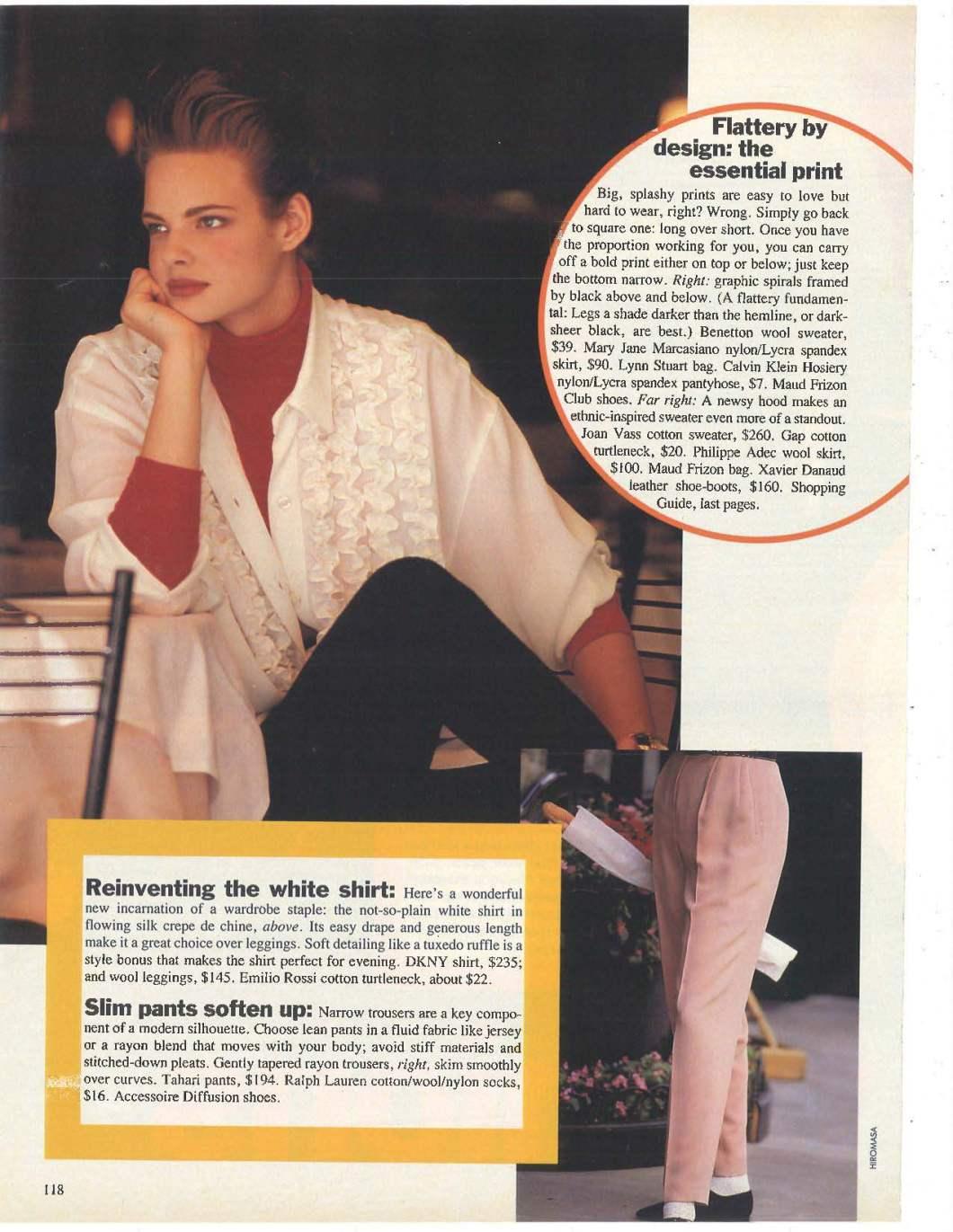 Glamour Magazine January 1991