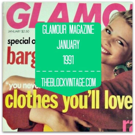 Glamour Magazine January 1991
