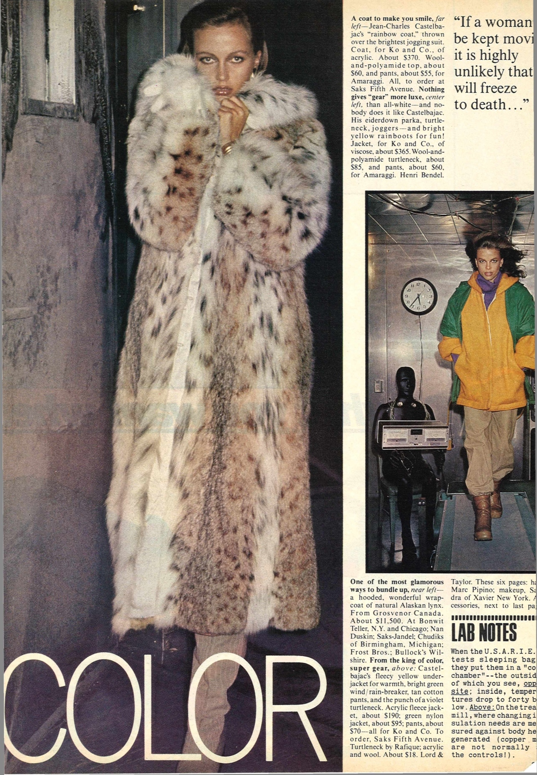 Vogue December 1976 Vintage Fashion Editorials from the 1970's