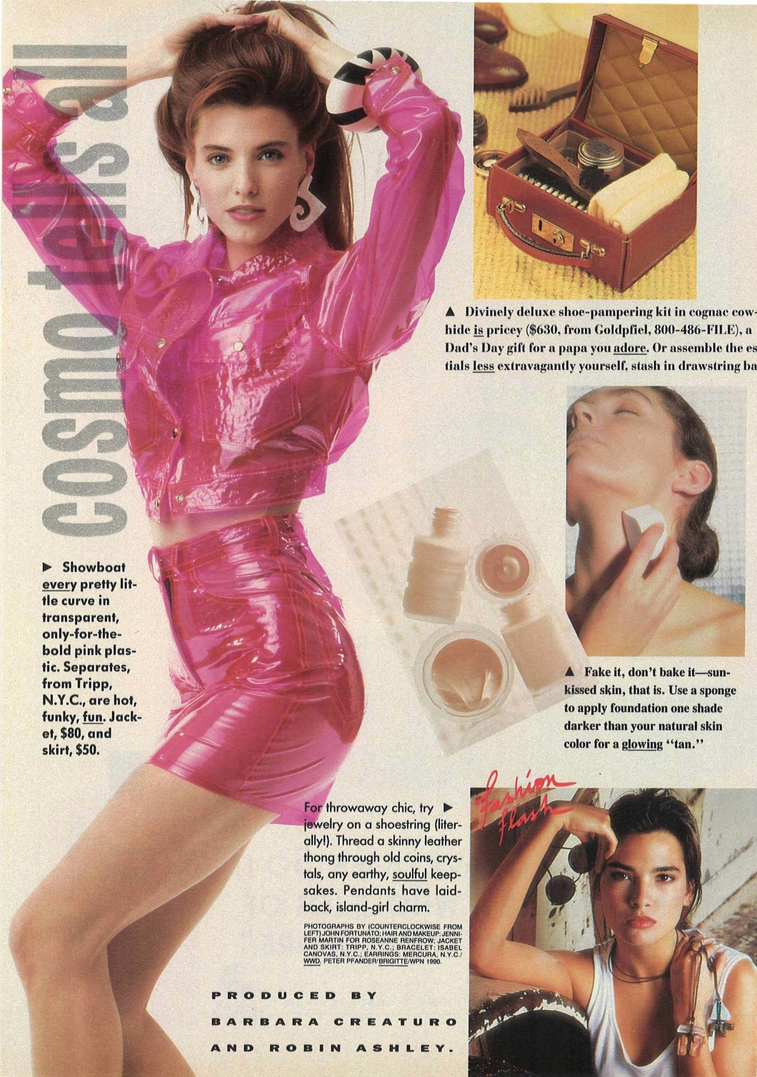 cosmo june 1990 fashion layout