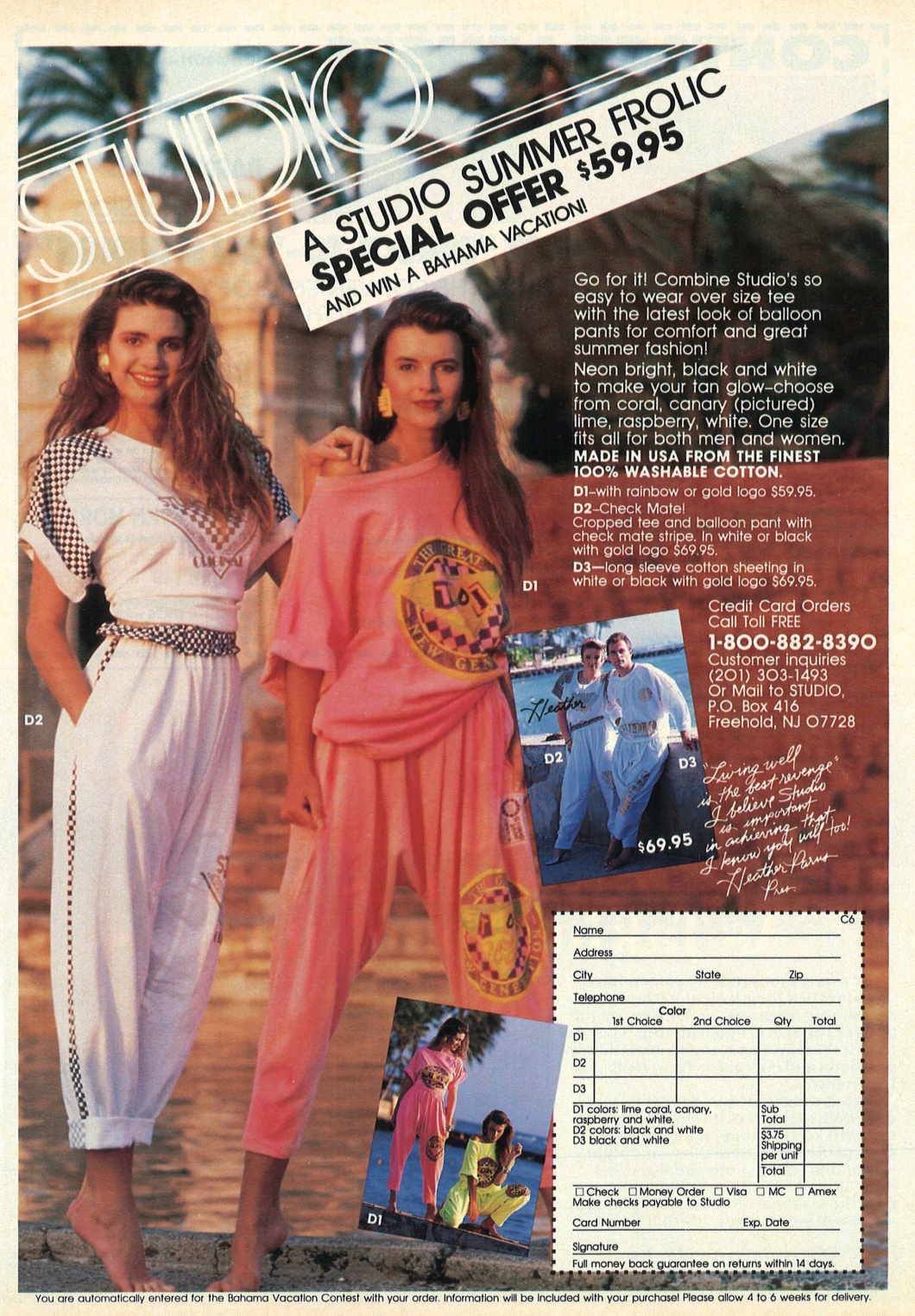 cosmo june 1990 Clothing advertisement