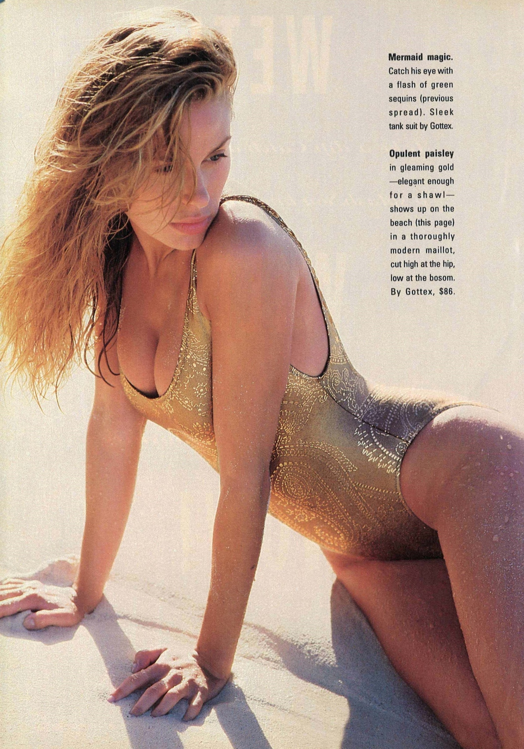 cosmo june 1990 vintage swimsuit editorial