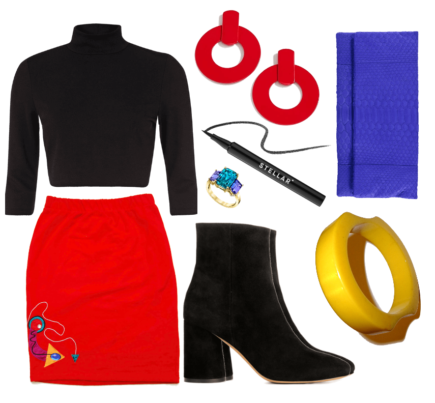 Vintage Winter Style Inspiration - Club Outfit