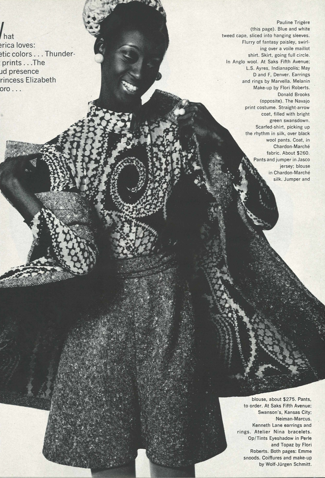 Vintage Fashion Spread Harper's Bazaar Feb 1970 Fashion America Loves by Bill King