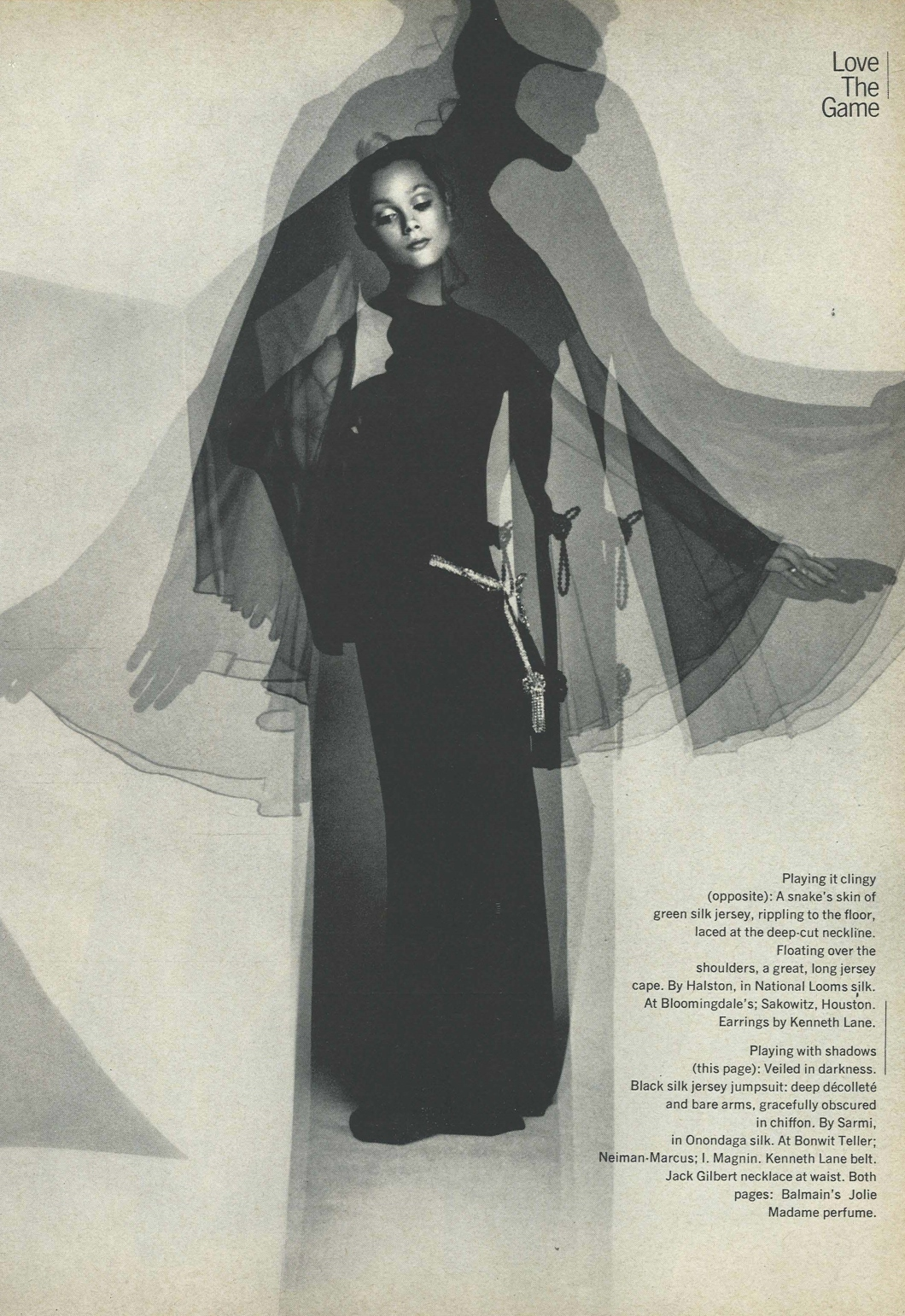 Vintage Fashion Spread Harper's Bazaar Feb 1970 Love the Game by Hiro