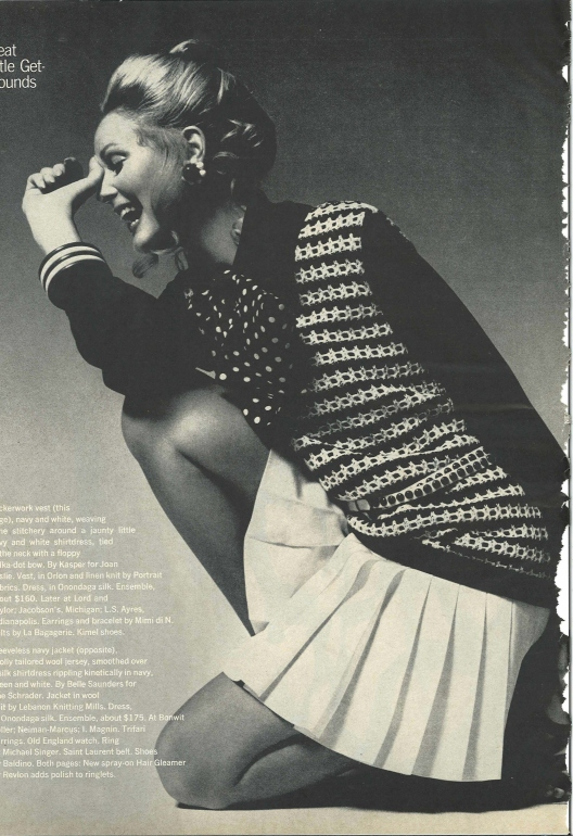 Vintage Fashion Spread Harper's Bazaar Feb 1970 Great Little Get-Arounds by Neal Barr