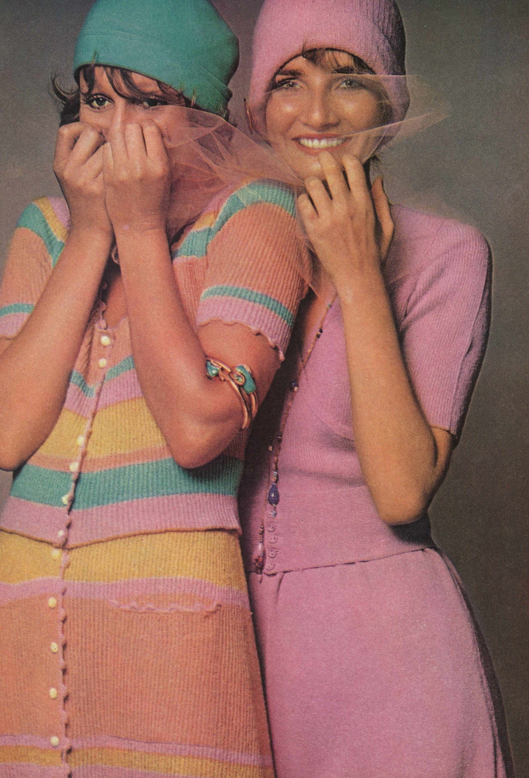 Vintage Fashion Spread Harper's Bazaar Feb 1970 Knit One, Love Two by Barbara Dordnick