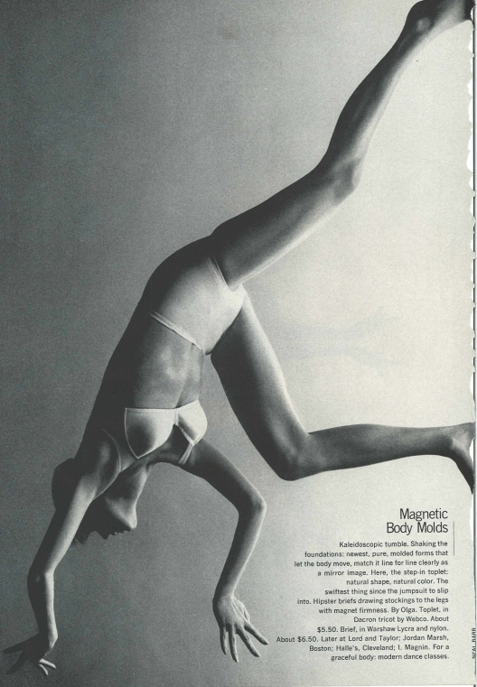 Vintage Fashion Spread Harper's Bazaar Feb 1970 Magnetic Body Mold by Neal Barr