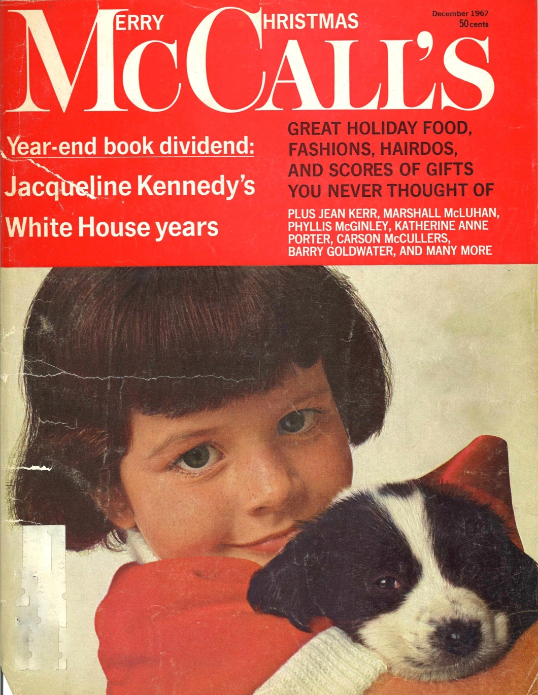 McCall's Magazine December 1967 Issue Cover