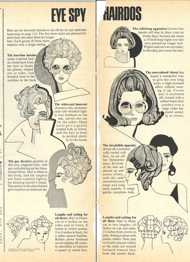 Eye Spy Hairdos McCall's Magazine December 1967